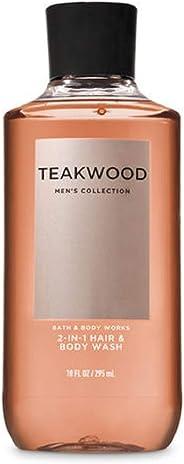 Bath & Body Works Teakwood Men's 2-In-1 Hair & Body Wash, Brown, 295 ml
