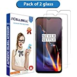 CELLBELL® Tempered Glass Screen Protector for OnePlus 6T(Transparent)[Pack of 2]