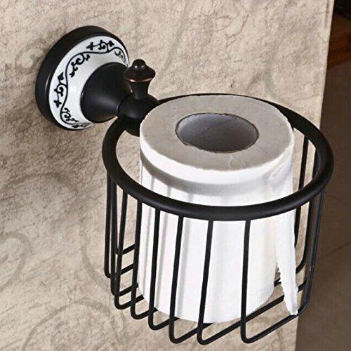 Hiendure Wandmontage Antik Messing Papierhalter Korb Toilettenpapierhalter WC-Papierrollenhalter