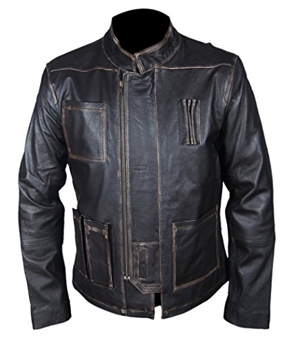 Leatherly Giacca Uomo Han Solo Star Wars The Force Awakens Pelle Giacca- L