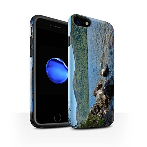 STUFF4 Glanz Harten Stoßfest Hülle / Case für Apple iPhone 8 / Felsig Strom Muster / Schottisch Landschaft Kollektion Loch/Felsen