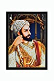 Bm Traders Sparkle Print Photo Shivaji Maharaj Without Frame (20 X 28 Inches)