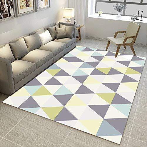 ZHAOXUAN Nordic Teppich Wohnzimmer Teppich Moderne Druck 4d Geometric Flooring Teppich Anti-Rutsch-Anti-Flecken-Teppich