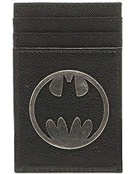 Batman Silver Logo Porta Tarjetas negro/plata