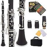 XI FA Klarinette, bB 17-Tasten-Bakelitklarinette, Vernickelter Knopf, Mit Musikinstrumententasche, Schilf