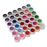 36 Farben UV Gel Farbgel Set Nagelgel Pure Color Nailart DIY Wunderschöne Trend