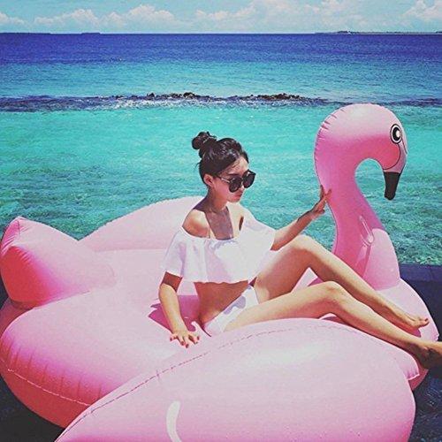 Inflable Gigante Flamencos, Flotador de Para Piscina Los Pueden Jugar en la Playa y Adecuado Para la Familia Usted Con Pileta Disfrute de sus Agradables Vacaciones con su Familia y sus Hijos