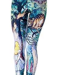 Autek Femmes extensible Splatter peinture Imprimer Legging Pantalons Collants Crayon DDKY30