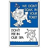 Poolmaster 41373nicht Pee in unserem Spa Schild für privaten Pools