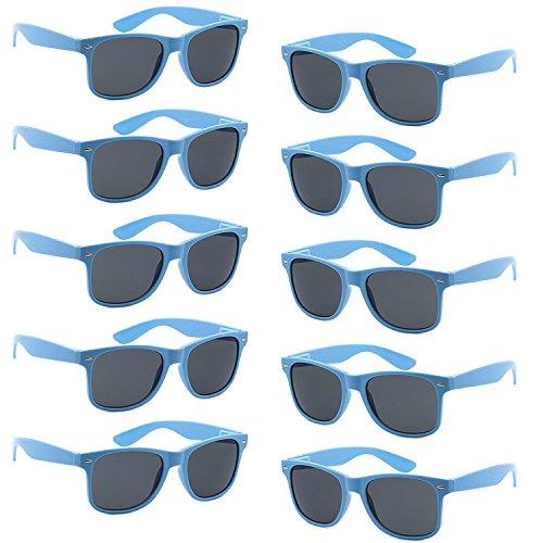 FSMILING Nerd Party Sonnenbrille UV400 Retro Design Stil Unisex Brille (10 Stück Blau Brillen)