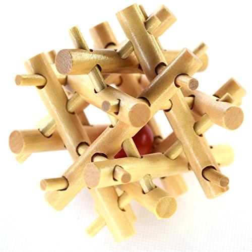 Joyeee® Denksportaufgaben aus Holz Gehirnjogging Puzzle Entwirrung Puzzles - #19