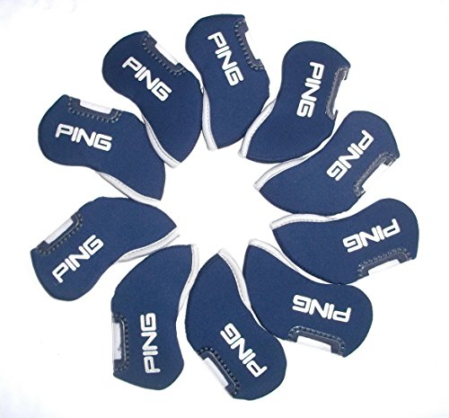 Ping golf Iron headcovers 10pcs/set Black, Red or Blue for sale  Delivered anywhere in UK