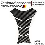 Motoking Tankpad carbone 'NEW-CLASSIC' - réservoir de la moto et de la protection de la peinture, universel - disponible en 3 couleurs - NOIR