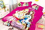 #9: SinghsVillas Decor 100% Cotton Barbie Bedsheet with Pillow Cover-Single