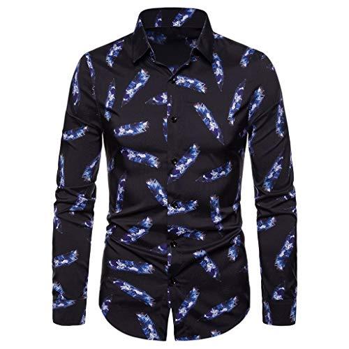 Fascino-M』Herren Slim Fit Langarm Business Hemd Stehkragen Steampunk Gothic Vintage Langarmhemd Freizeithemd -