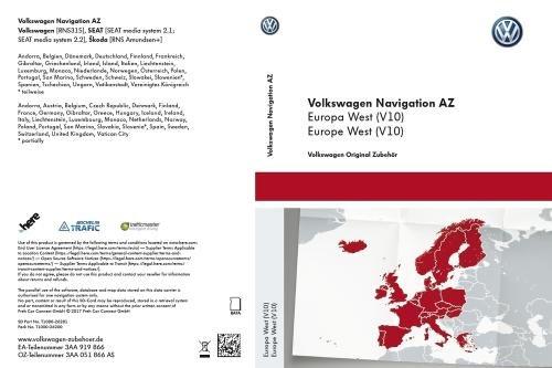 Update-sd-karte (VW SD-Karte für RNS 315, Westeuropa (V10) - 3AA051866AS)
