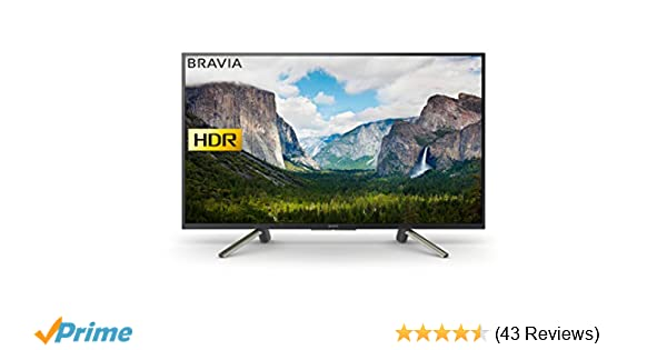 Sony Bravia KDL43WF663 43-Inch Full HD HDR Smart TV with Freeview Play -  Black (2018 Model)