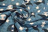 Hilco Jersey 'Street Style' Caps & Sterne Blau 0,5m