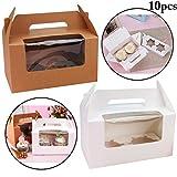 JUSTDOLIFE 10 STÜCKE Cupcake Box Kreative Papier Kuchen Box Verpackung Box für Behandeln