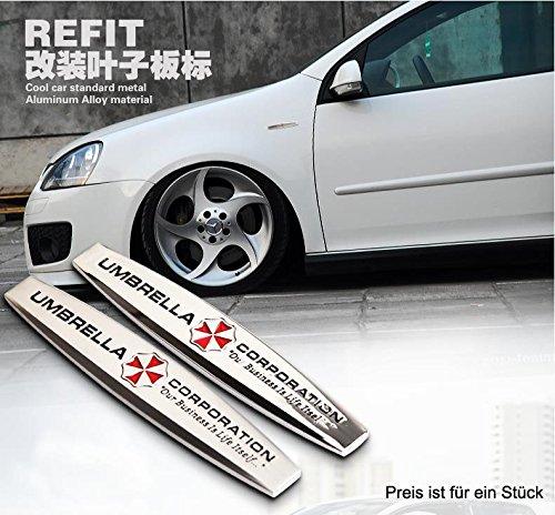 B100 Umbrella Corporation Seite Emblem Badge Auto Aufkleber 3d Car Sticker Metal Abziehbild