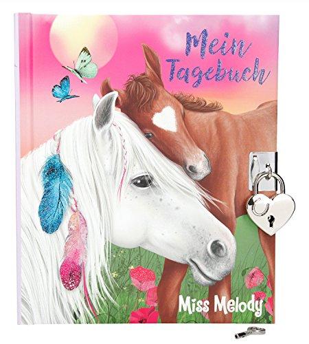 Depesche 1935 - Tagebuch Miss Melody mit Stickern
