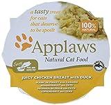 Applaws Katze Schale, saftiger Hühnerbrust mit Ente, 10er Pack (10 x 60 g)