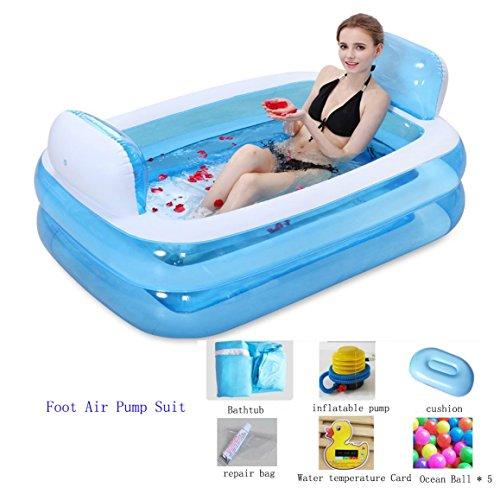 Falten aufblasbare Badewanne, große Familie Massage Whirlpool Badewanne -