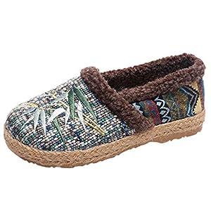 SIRIGOGO Mode Damen Baumwollschuh weichen Boden Non-Slip Warm große Größe Tuch Schuhe, Damen Boot große Größe Tuch Schuhe Mutter Schuhe Plus samt Baumwollschuhe