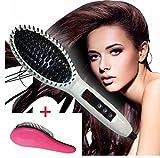 Professionelle Elektrische Glättbürste mit CE und RoSH Haarglätter Haarbürste Hair Straightener Stylingbürste für lange Haare mit LCD Anzeige