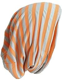 BRUBAKER Damen Slouch Beanie Streifen Baumwolle Farbauswahl