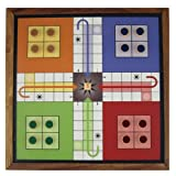 Classic Ludo Wooden Board Game with Magn...