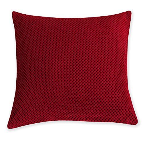 Kissenhülle Life Bi Color Bezug Zierkissen Kissenbezug viele Farben und Größen #1422 (40x 40 cm, rot) - Bild 1