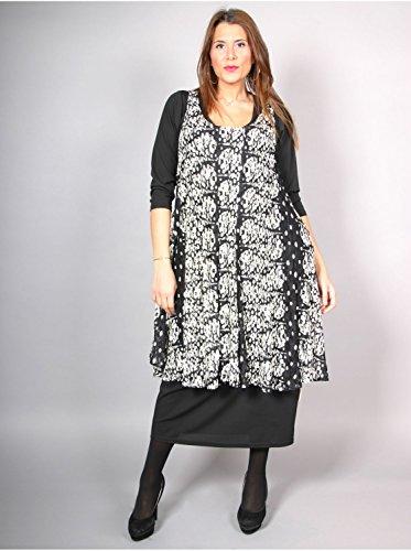 Vêtement Femme Grande Taille Sur Robe Edmond Boublil Imprimé Noir