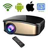 Wireless WiFi Video Projector DIWUER Full HD 1080P 1200 Lumens Projector Portable Mini Movie Projectors With HDMI USB VGA AV Input for iPhone Android Phone PC Laptop