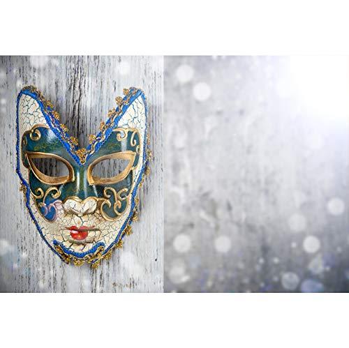 l Maske Hintergrund Wunderschönes Muster Maske Holzboden Fantasie Bokeh Leichte Pailletten Hintergrund Karnevalsparty Kinder Erwachsene Wand Dekoration Banner Porträts Fotografie ()