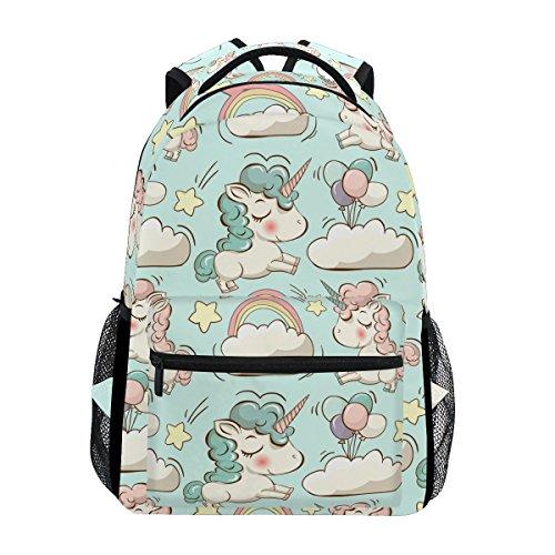 Mochila Tizorax con diseño de unicornio, para la escuela, senderismo, viajes, mujeres y hombres, color Pattern-6, tamaño One_Size