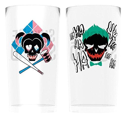 DC Comics GB Eye LTD, Suicide Squad, Joker and Harley, Set de 2 Vasos