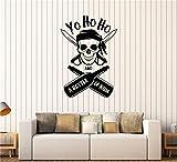 autocollant mural Yo Ho Ho et une bouteille de rhum Skull