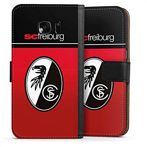 Samsung Galaxy S7 Tasche Hülle Flip Case SC Freiburg Fanartikel Scf Fussball