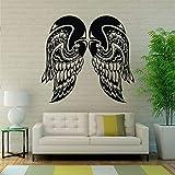 jiushizq Ange Ailes Sticker Vol Flight Vinyle Autocollant Peintures Spirituelles Inspirational Décalque De Voiture Intérieur Décor Home Noir 115x108 cm...