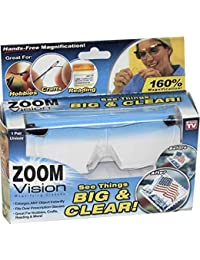Zoom Vision Magnifying Eye Glasses with Non Slip Nose Pad and Scratch Resistant Lense | Unisex Design | Great for Hands Free Magnified Vision