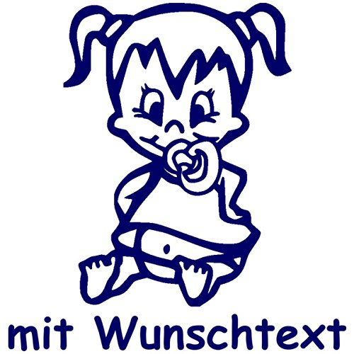 Babyaufkleber und Wunschtext (ca. 16 cm)
