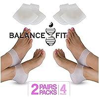 Balance Fit 2Paar Extra Weich Gel Fersenkissen Socken hilft Ferse Schmerzen Plantarfasziitis und rissige Fersen preisvergleich bei billige-tabletten.eu