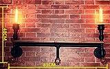 Yanlana retro E27 Wandlampe Einstellbar Modern Led Wandleuchte Für Schlafzimmer Wohnzimmer Treppenhaus Flur Schlafzimmer, Küche, Restaurant, Caféretro Industrielle Feng Shui, Regalwand Racks, Schwarz