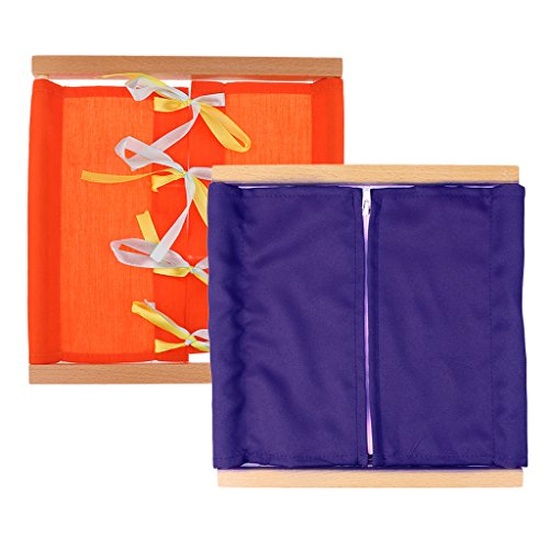 Gazechimp Montessori Juguete Educativo Caja de Ropa Educación en Vida Diaria - 2 pcs (Púrpura Naranja)