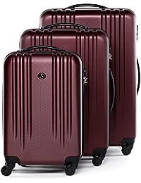 FERGÉ Conjunto de tres maletas Marseille - ABS Dure-Flex - 3 trolley rígidas - 3 sizes - equipaje con 4 ruedas (360) para (51 x 77 x 30 cm)
