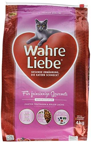 Wahre Liebe Katzenfutter Sensible Katze, 1er Pack (1 x 4 kg) (Yucca Pulver)