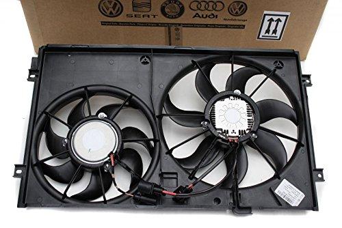 Kühlerlüfter Motor Gebläse SET (VW Touran, Audi A3) Originalteile (Gebläse Motor Teil)