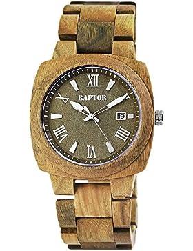 Raptor Herren Armbanduhr Holzban