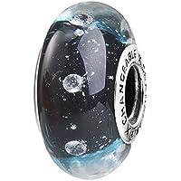 TAOTAOHAS Perlina in vetro Ciondolo da donna argento sterling 925 e vetro per braccialetti con charm Pandora